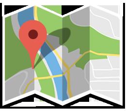 برخی از مراکز بروی نقشه  گوگل